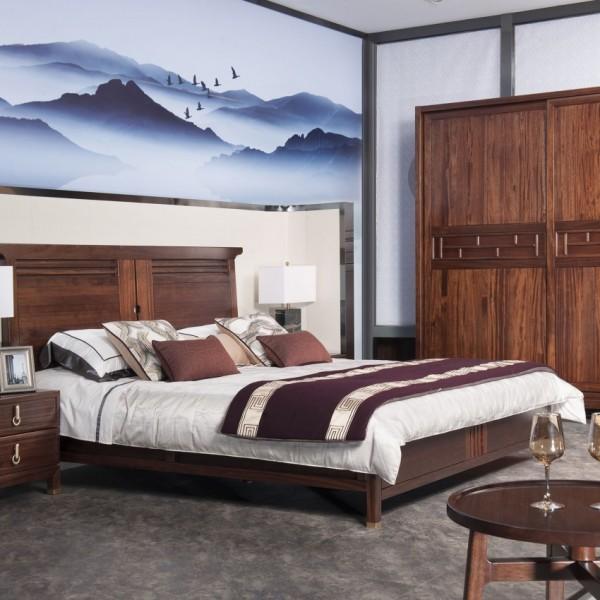 遇见新中式实木家具卧房套
