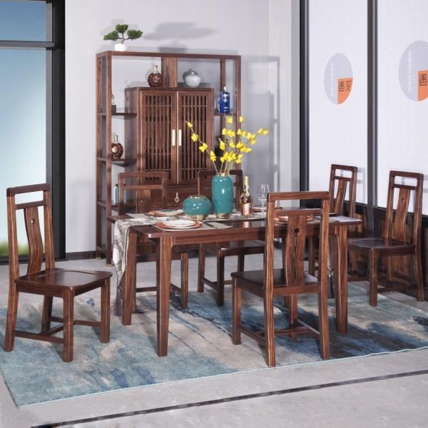 遇见新中式实木家具餐桌椅MTC-11#博古架MT906#