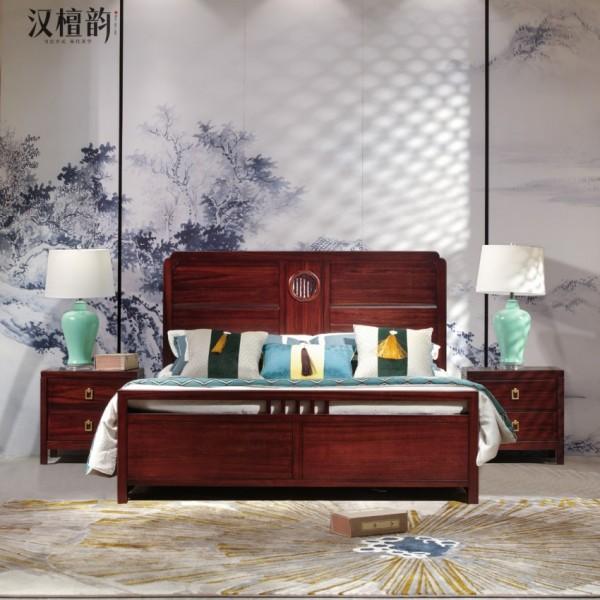 汉檀韵新中式实木家具实木大床9102 床头柜
