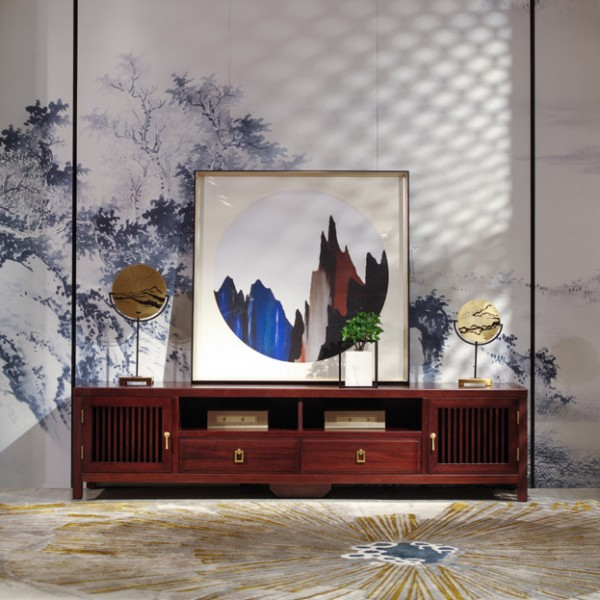 汉檀韵新中式实木家具客厅 电视柜9103