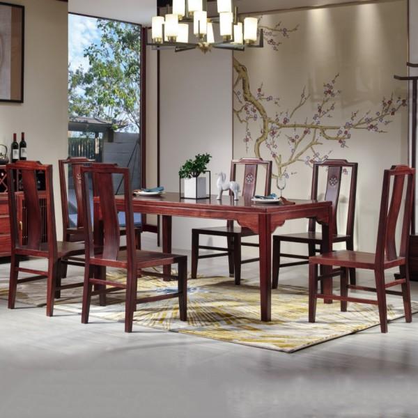 汉檀韵新中式实木家具餐桌椅9102餐边柜