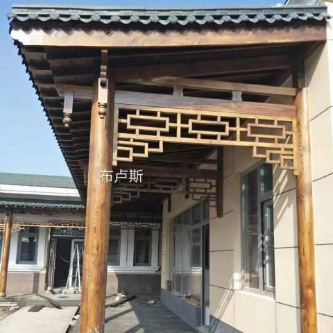 香河布卢斯户外门口碳化木芬兰木凉亭仿古庭院设计小桥图片 (36播放)