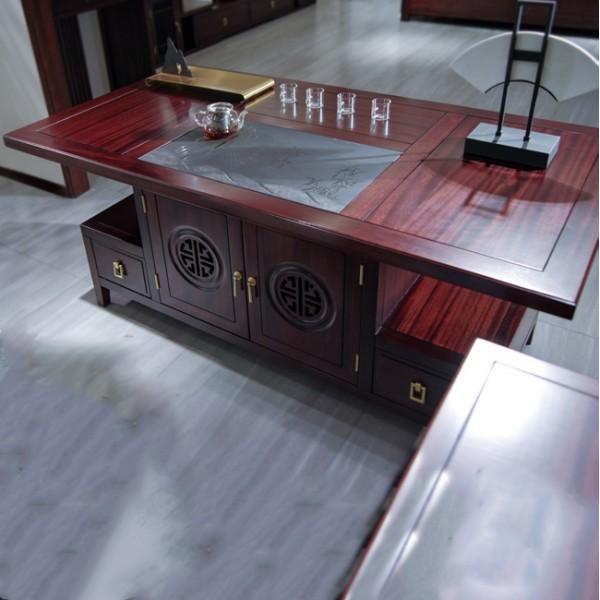 汉檀韵新中式实木家具 茶台套装9101