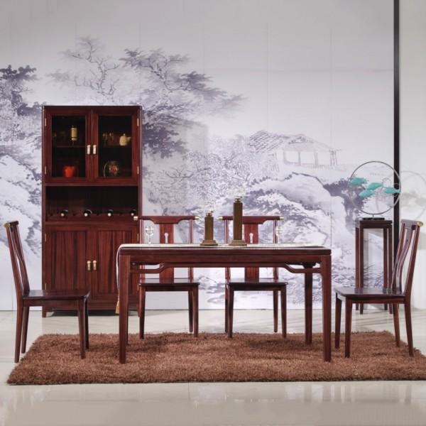 汉檀韵新中式实木家具酒柜9102