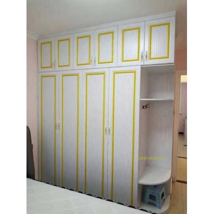 全铝家具 全铝卧室简约衣柜