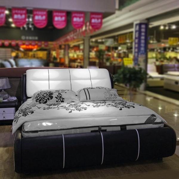 小户型皮艺双人软床采购价格 PYC-20