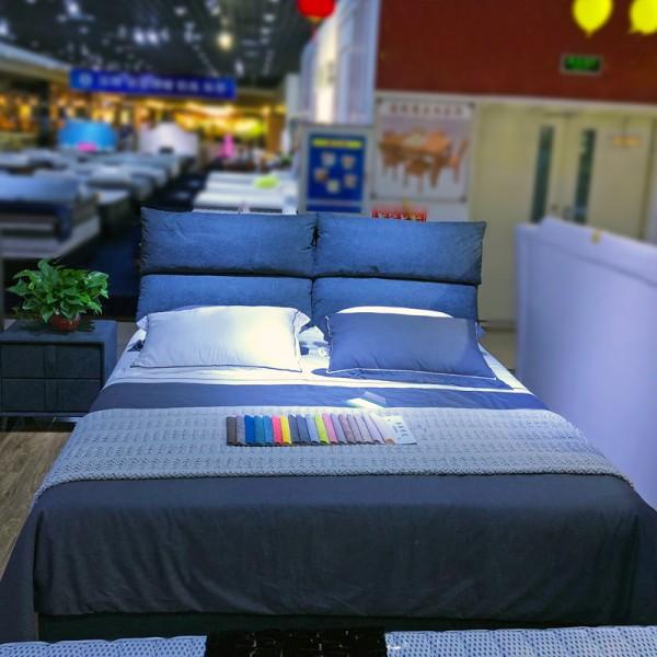 现代简约小户型布艺双人软床价格 BYC-01