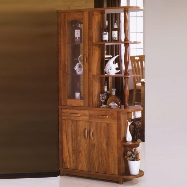 现代中式客厅门厅柜隔