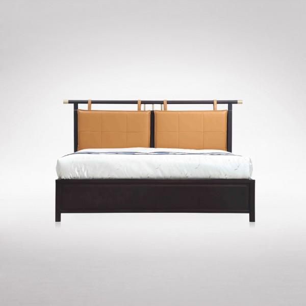 时尚新中式双人床卧室