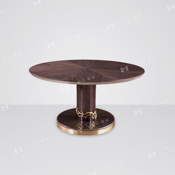 轻奢后现代家用圆餐桌