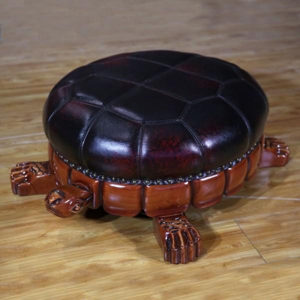 客厅摆件欧式实木乌龟