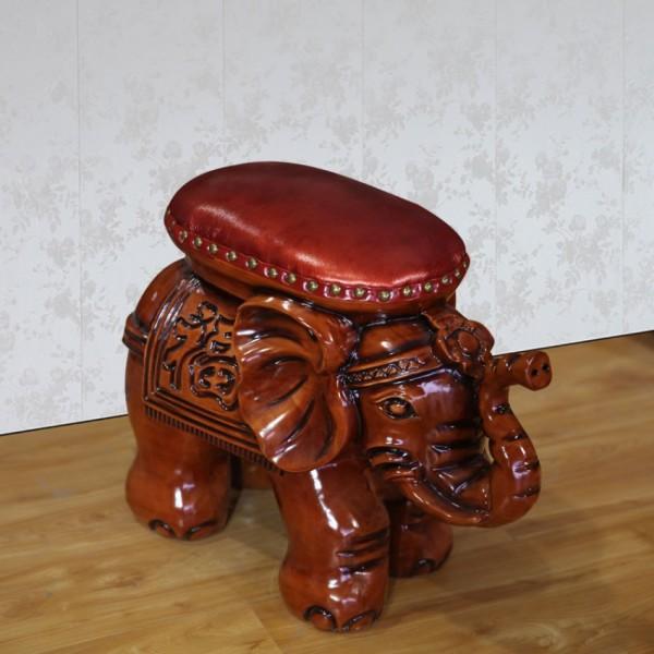 客厅中式大象换鞋凳 H