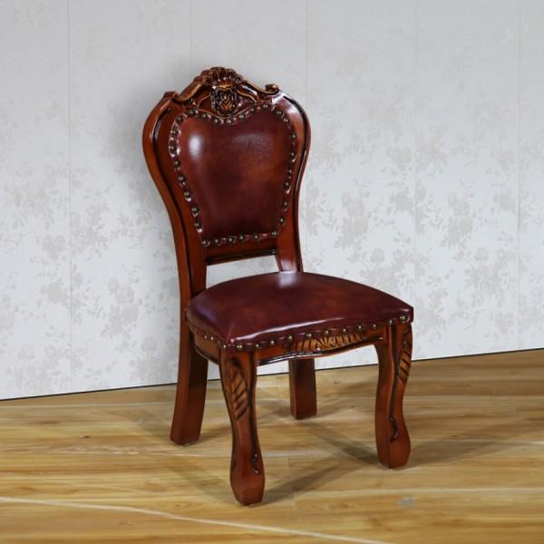 欧式实木小孩子椅子餐