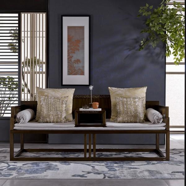 恒久一檀新中式实木家具罗汉床