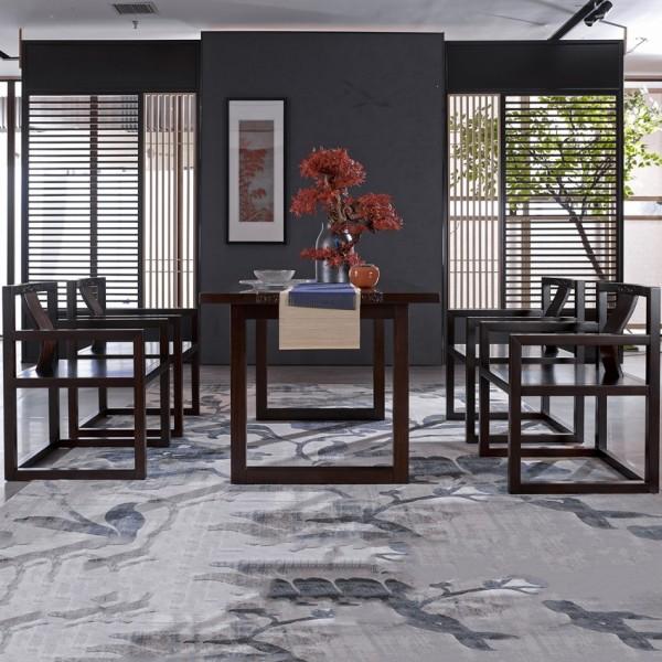 恒久一檀新中式实木家具餐桌椅