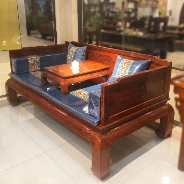 羅漢床實木中式沙發床