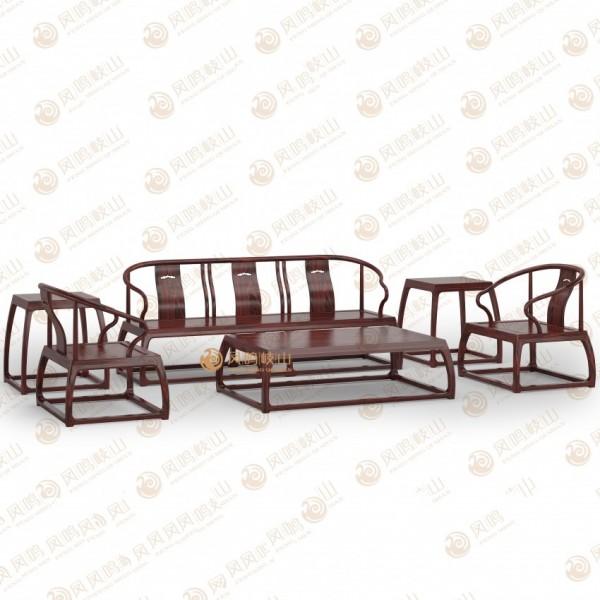凤鸣岐山红木家具宋式客厅明式圈椅沙发组合