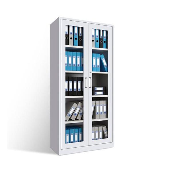钢制通体玻门文件资料柜品牌供应商WJG-06