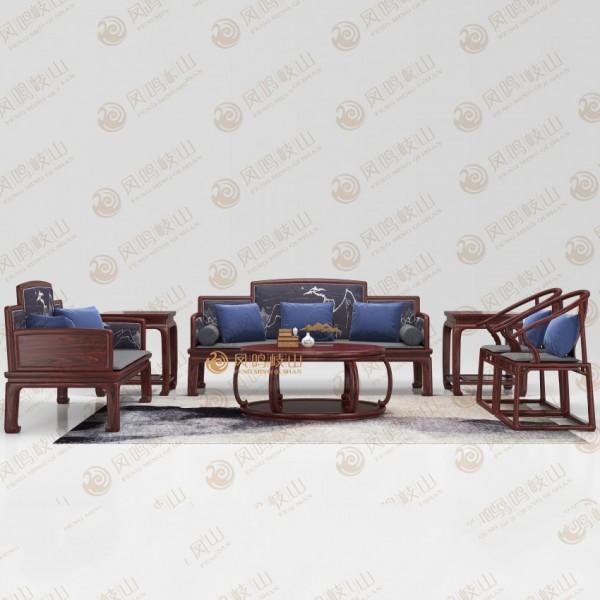 凤鸣岐山红木家具客厅戴为沙发套