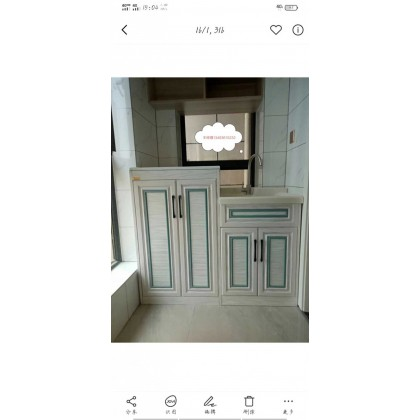 全铝家居 厂家直销全铝洗衣柜 阳台柜