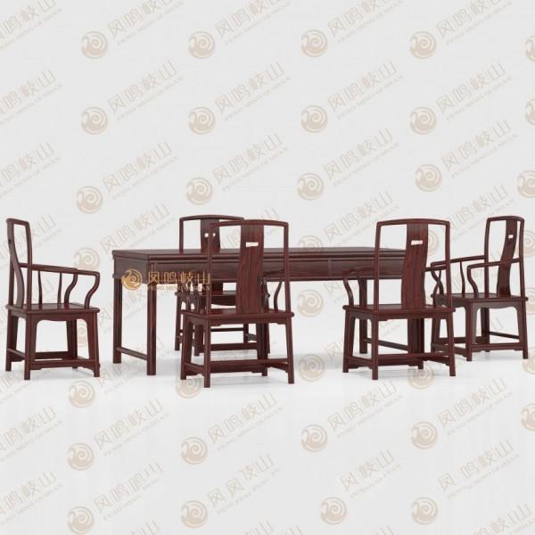 凤鸣岐山红木家具明式经典茶台