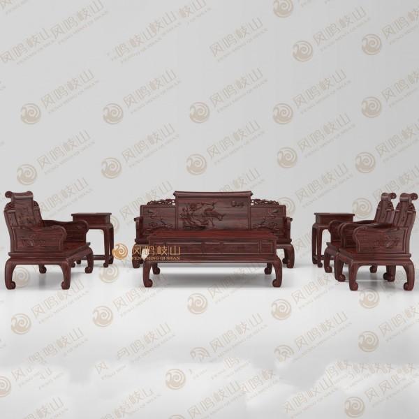 凤鸣岐山红木家具客厅一品沙发