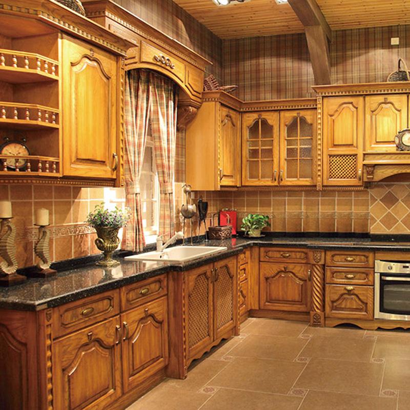 环保实木整体定制厨房橱柜家具 27#