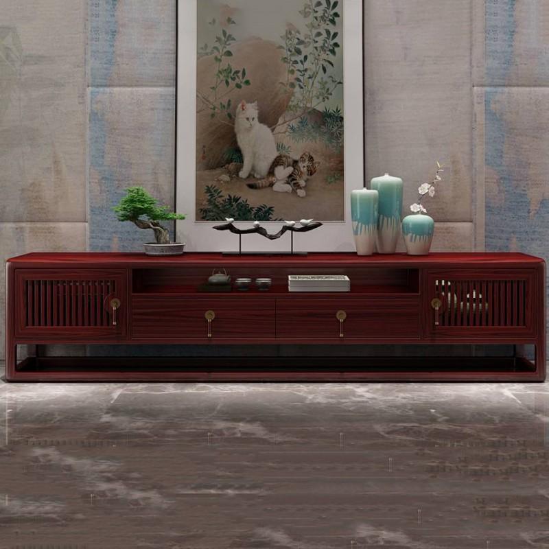 喜之林东阅新中式实木家具客厅电视柜地柜