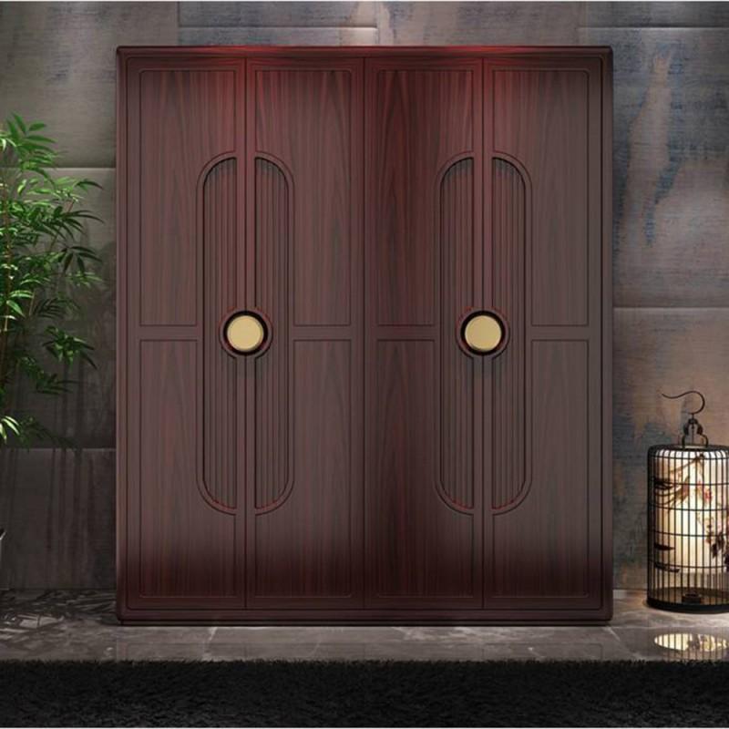 喜之林东阅新中式实木家具卧室四门衣柜