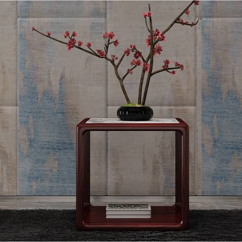 喜之林东阅新中式实木家具客厅角几方几