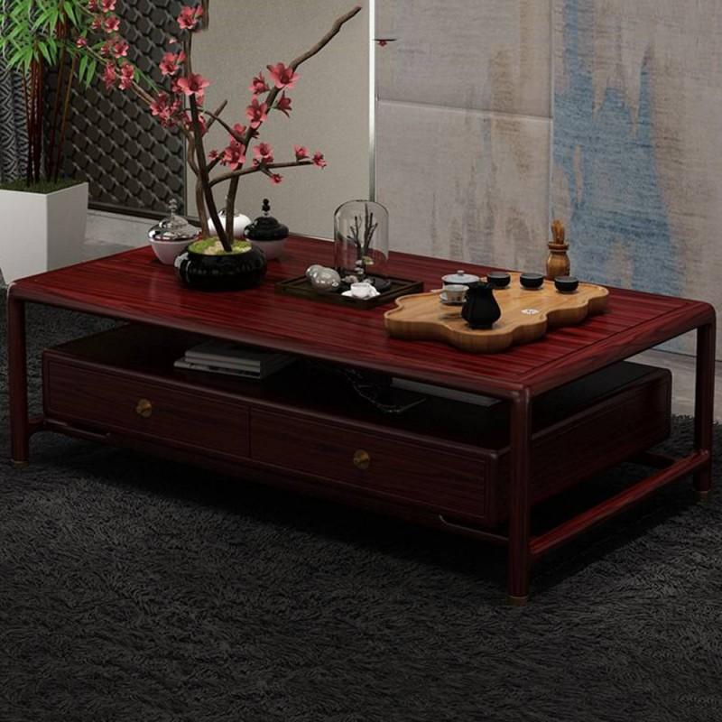 喜之林东阅新中式实木家具客厅大茶几