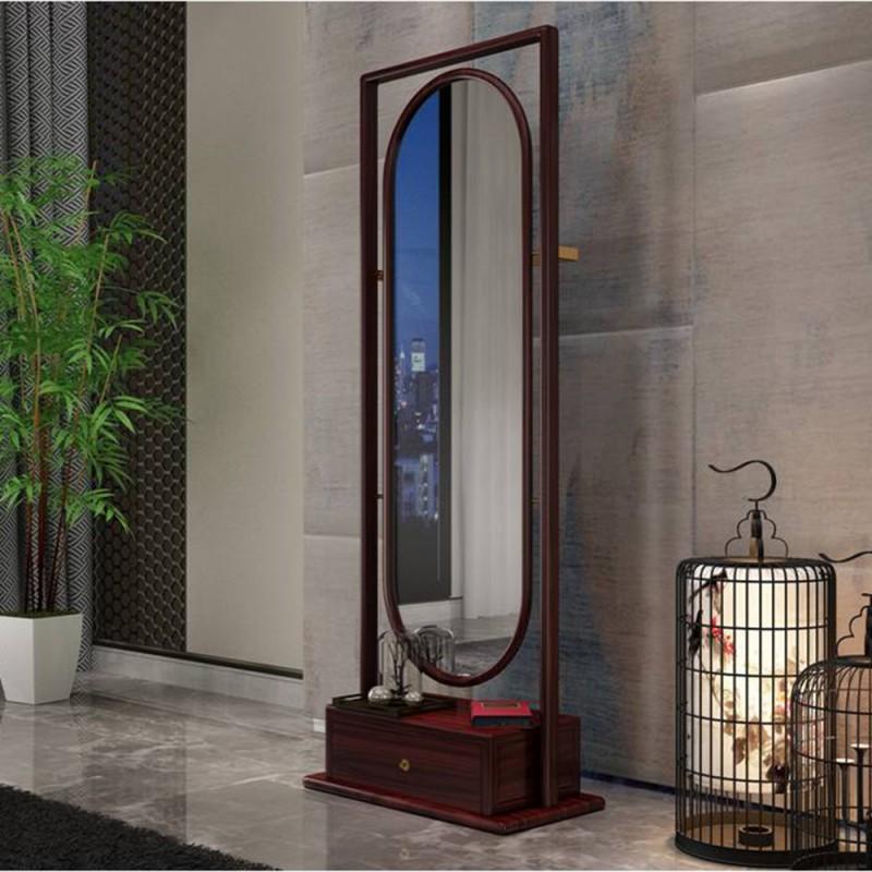 喜之林东阅新中式实木家具穿衣镜