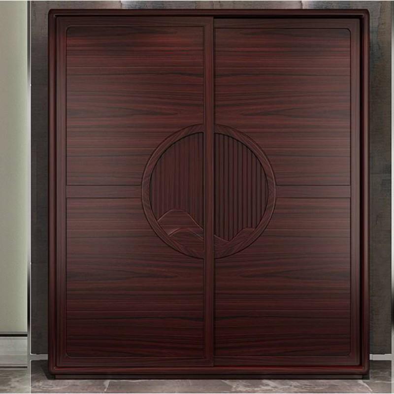 喜之林东阅新中式实木家具卧房两门推拉衣柜