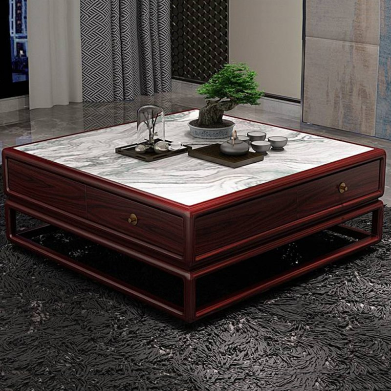 喜之林东阅新中式实木家具客厅大方几