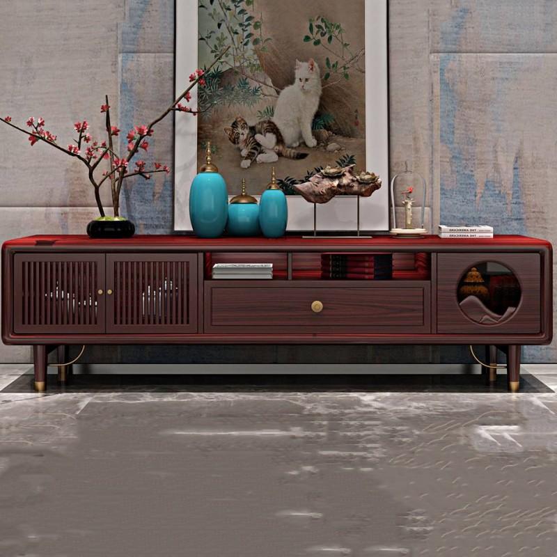 喜之林东阅新中式实木家具客厅电视柜带柜门