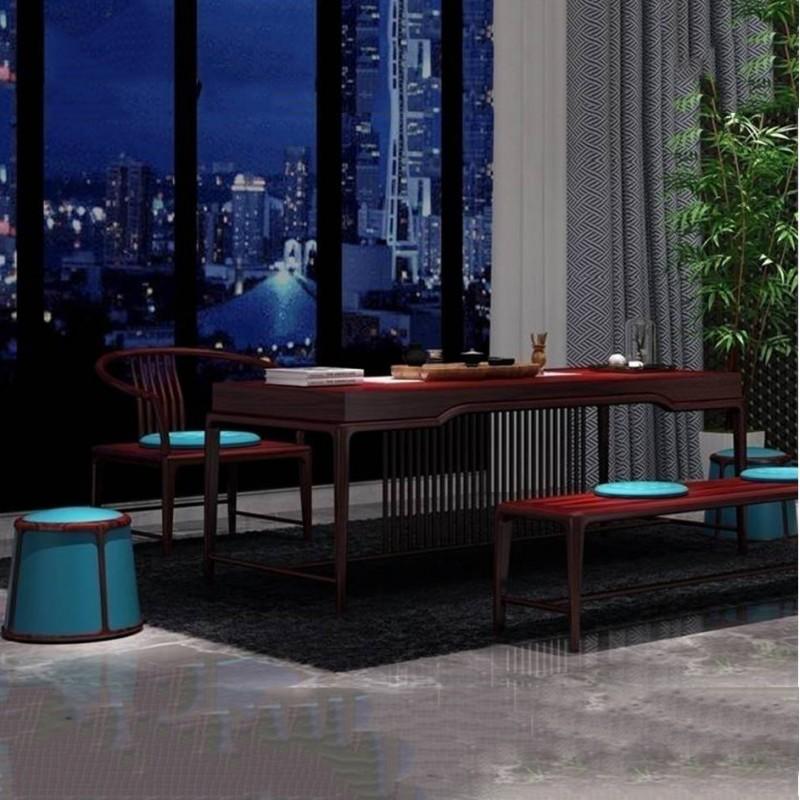 喜之林东阅新中式实木家具茶桌椅套装
