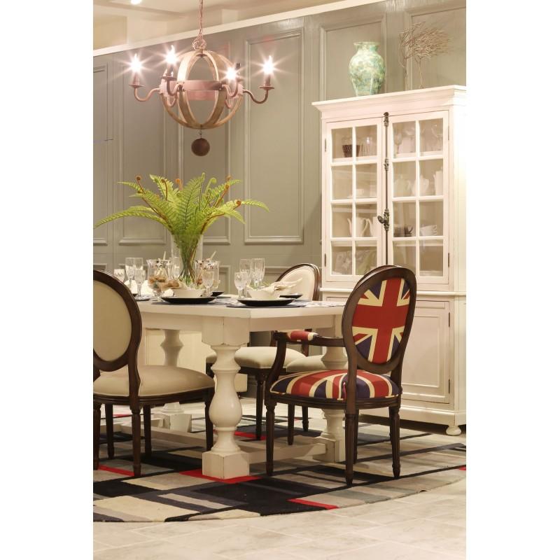 休闲美式餐桌椅组合CZ