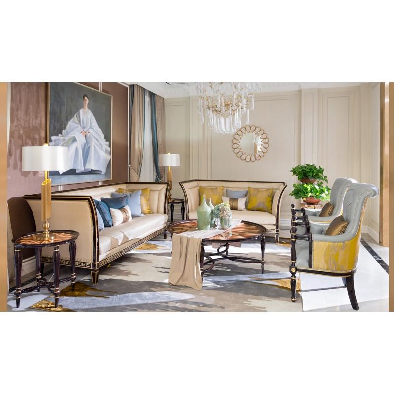 美式轻奢客厅组合沙发