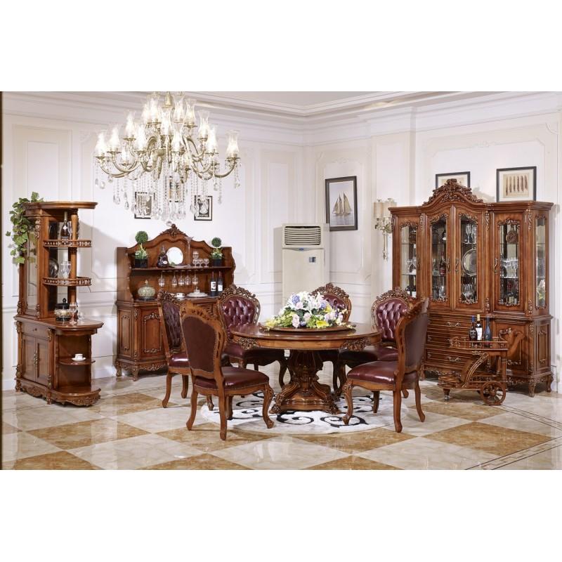 经典法式别墅餐厅餐桌