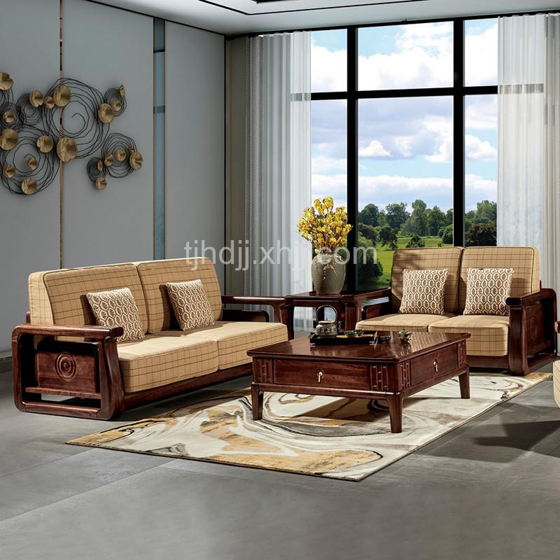 新中式客厅组合沙发