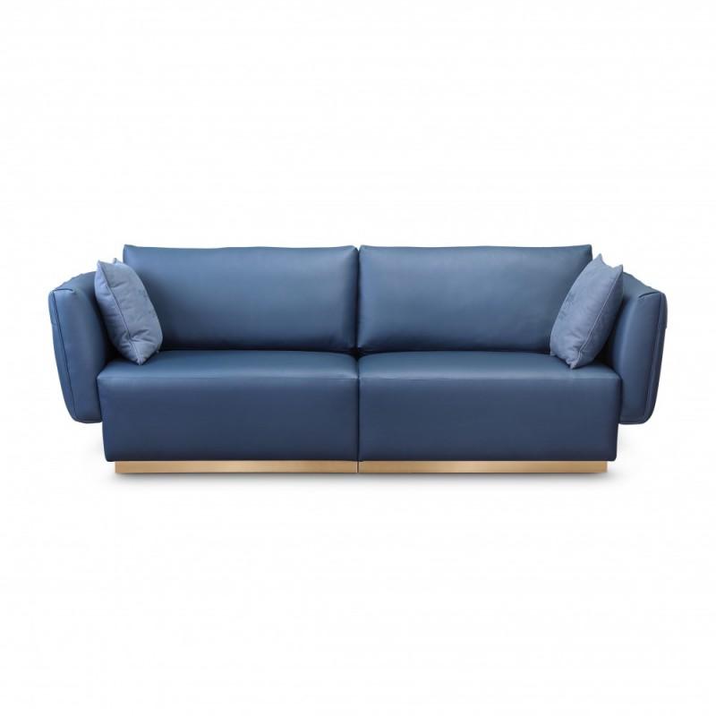 潮流輕奢 客廳三人藍