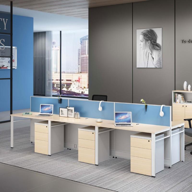简约职员办公桌员工桌定制1.4.1#