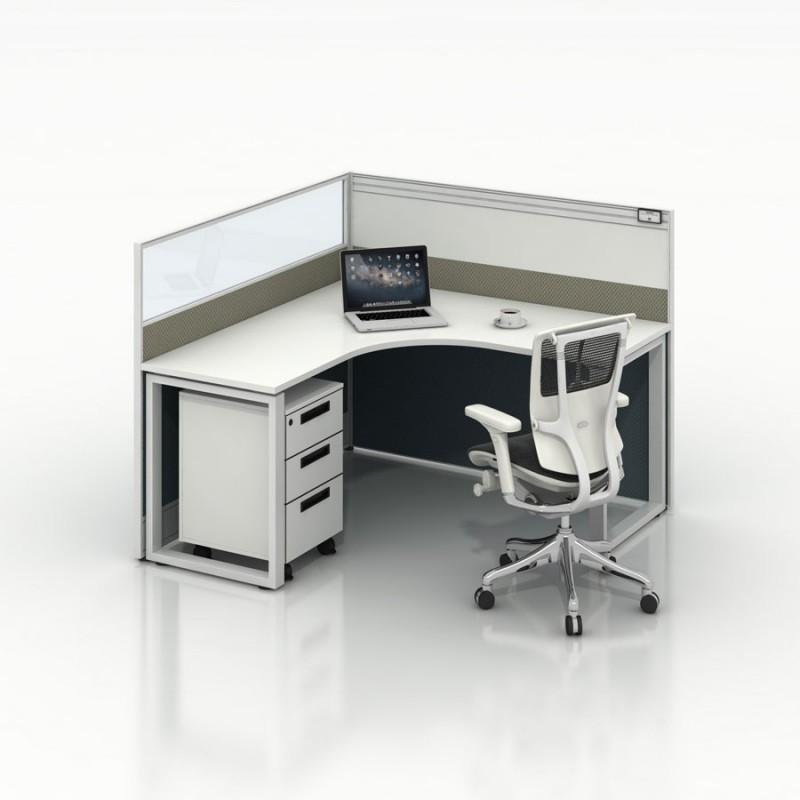 单人位办公桌员工工作位采购1-L#