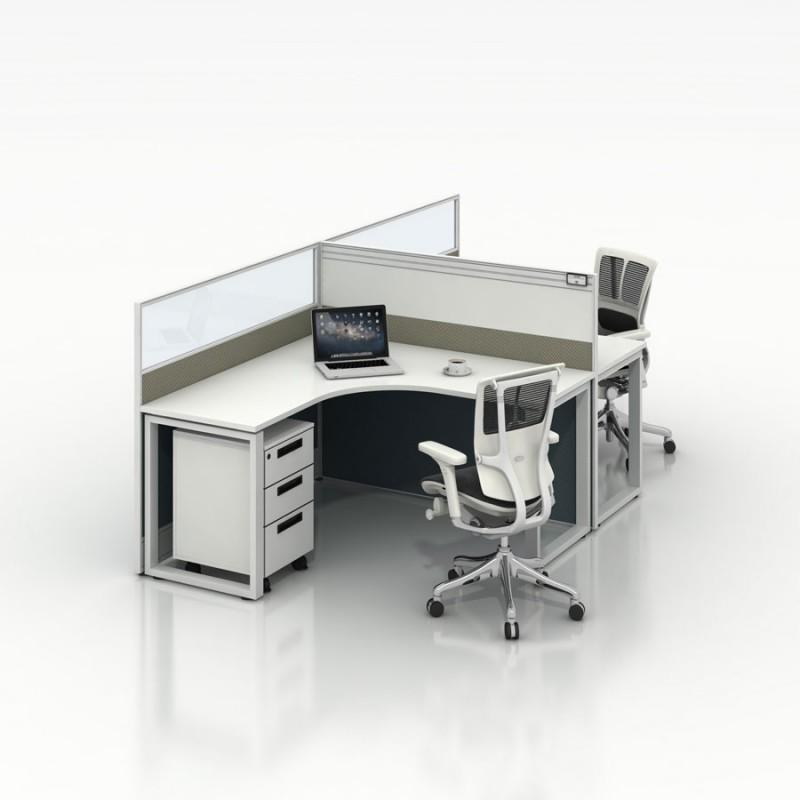 简约时尚职员办公桌椅生产厂家2-T#