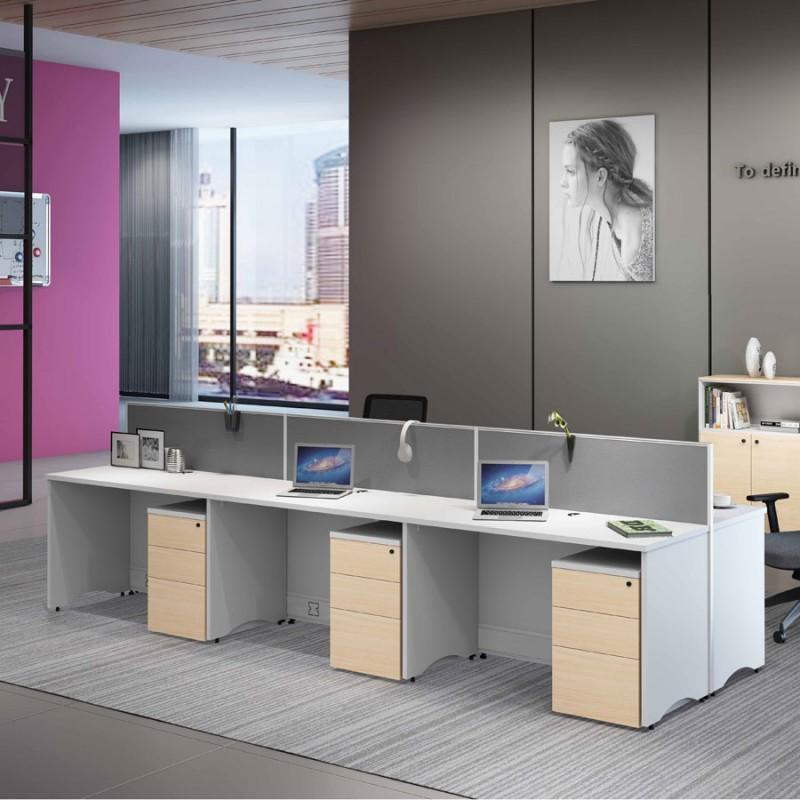 现代职员办公桌椅采购价格12.27.1#
