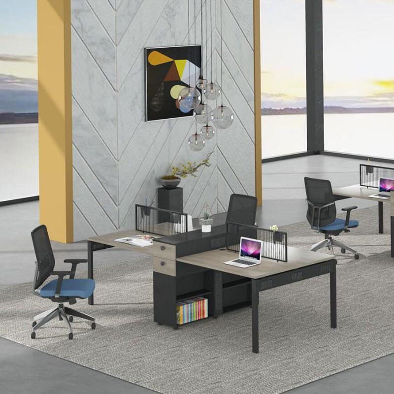 简约办公家具四人位员工桌价格PF-01#