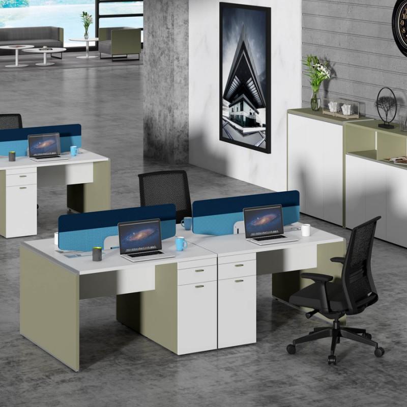 现代简约员工桌高卓印象屏风采购WTD#
