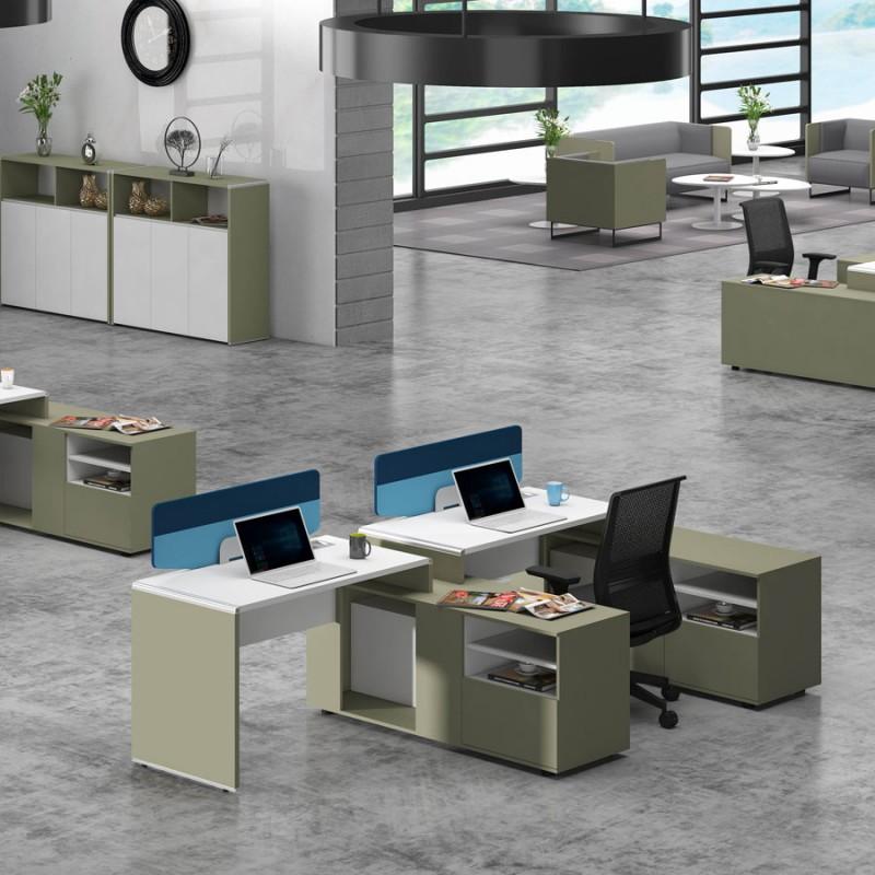 简约屏风位高卓印象办公桌定制WTE#