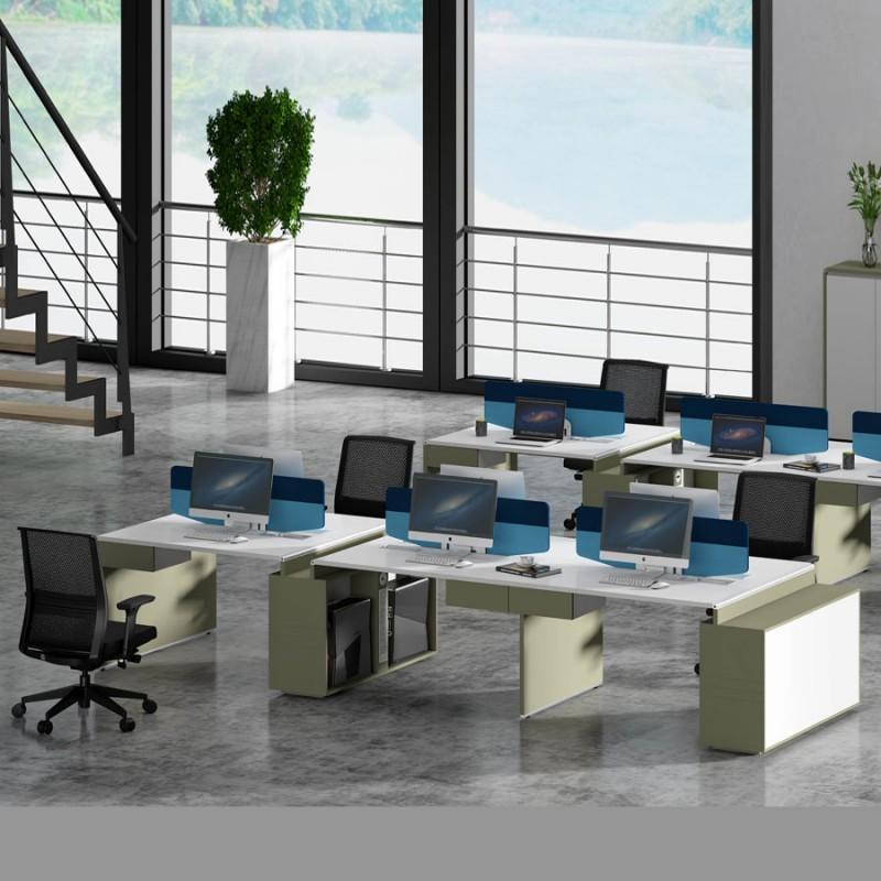 简约现代员工办公桌高卓印象工作位WTM6#