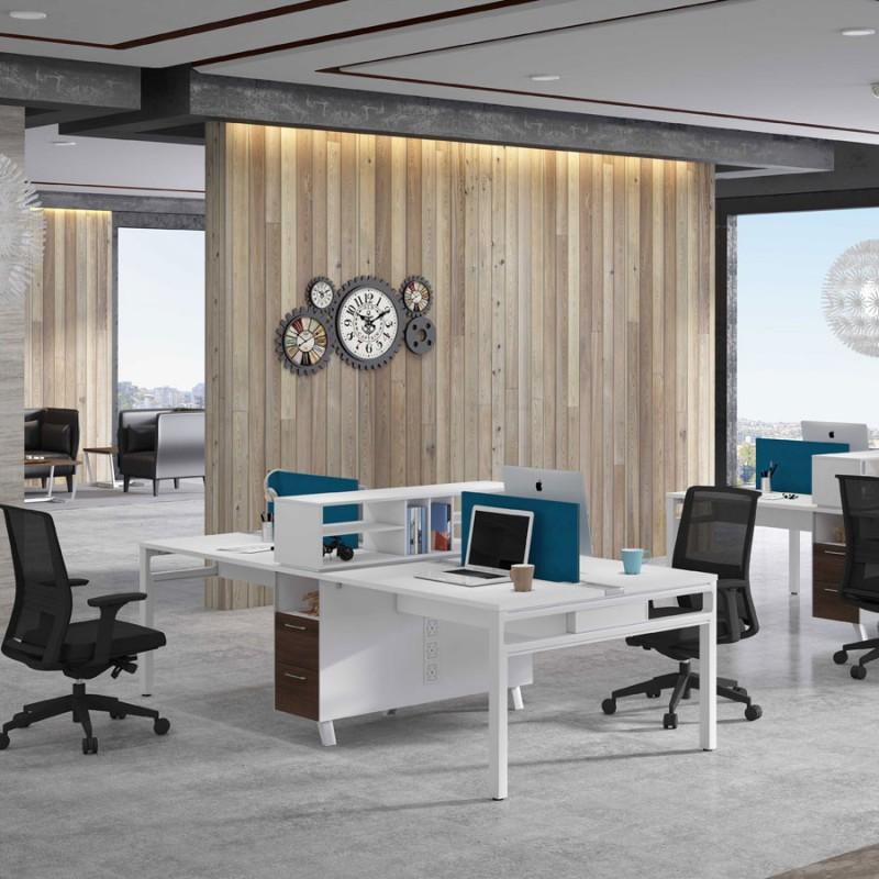 高卓特伦德办公家具四人位工作站GZW#
